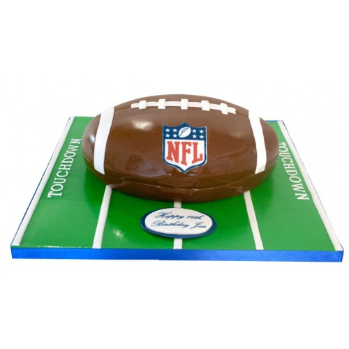 Marvelous American Football Birthday Cake Personalised Birthday Cards Paralily Jamesorg