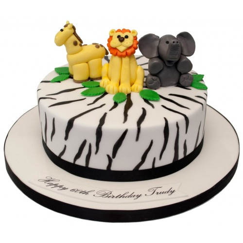 Cool Animals Zebra Print Birthday Cake Funny Birthday Cards Online Overcheapnameinfo