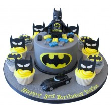Batman Lego Cake and Cupcakes