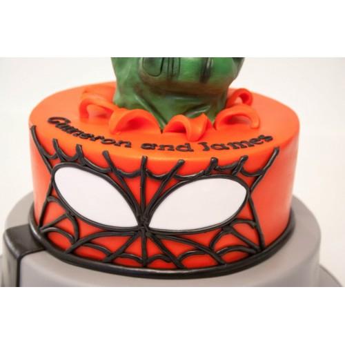 Batman Spiderman Hulk Birthday Cake
