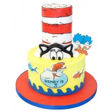 Cat In Hat Birthday Cake