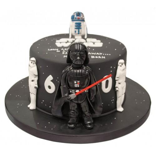 Pleasing Darth Vader R2D2 Birthday Cake Birthday Cards Printable Trancafe Filternl