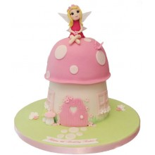 Fairy Pink Toadstool Birthday Cake