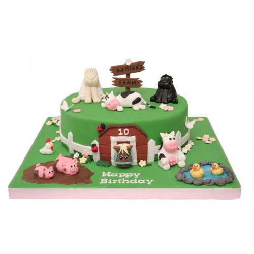Awesome Farmyard Birthday Cake Funny Birthday Cards Online Hendilapandamsfinfo