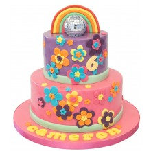 Flowers Trolls Birthday Cake