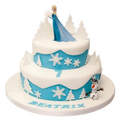 Frozen Plastic Model Birthday Cake