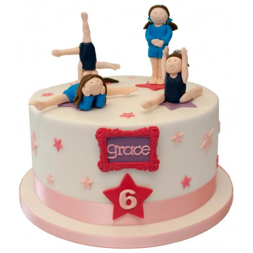Wondrous Gymnastics Birthday Cake Personalised Birthday Cards Cominlily Jamesorg