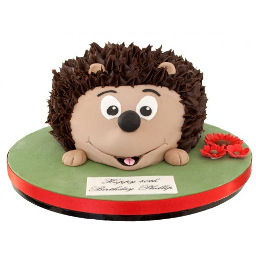 Peachy Hedgehog Birthday Cake Funny Birthday Cards Online Inifodamsfinfo