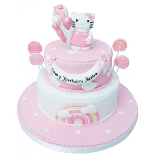 Hello Kitty 2 Tier Birthday Cake