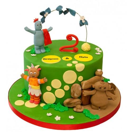 Sensational Night Garden Birthday Cake Funny Birthday Cards Online Overcheapnameinfo