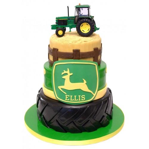 Groovy Tractor Birthday Cake Personalised Birthday Cards Beptaeletsinfo