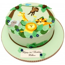 Jungle 2d Birthday Cake