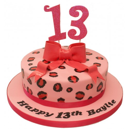 Cool Leopard Bow Birthday Cake Funny Birthday Cards Online Amentibdeldamsfinfo