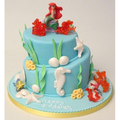 Little Mermaid Topsy Turvy Birthday Cake