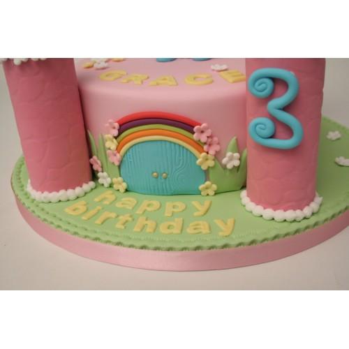 Chocolate Finger Castle Cake