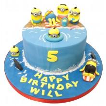 Minions Beach Birthday Cake