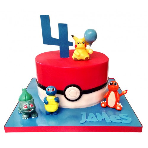 Fine Pokemon Birthday Cake Personalised Birthday Cards Bromeletsinfo