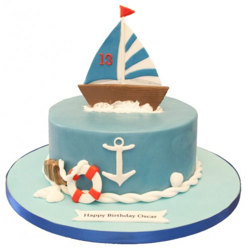 Magnificent Sailboat Birthday Cake Funny Birthday Cards Online Sheoxdamsfinfo