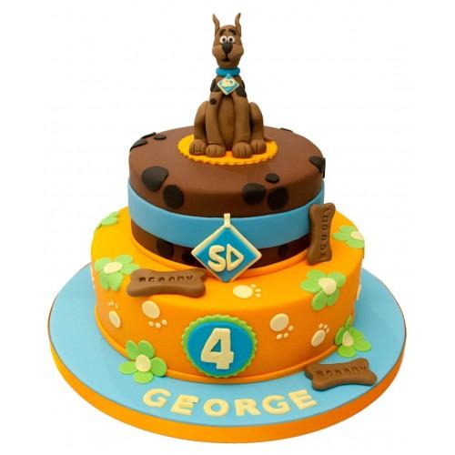 Scooby Doo 2 Tier Birthday Cake