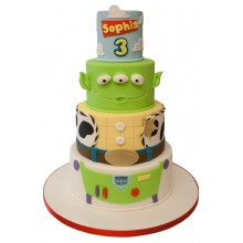 Toy Story 4 Tier Birthday Cake