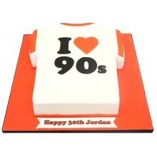 90s T Shirt Cake