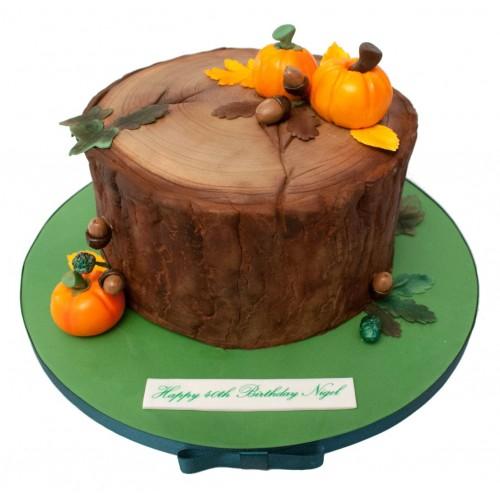 Enjoyable Autumn Birthday Cake Funny Birthday Cards Online Unhofree Goldxyz