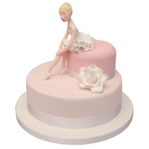 Swell Ballerina Birthday Cake Birthday Cards Printable Opercafe Filternl