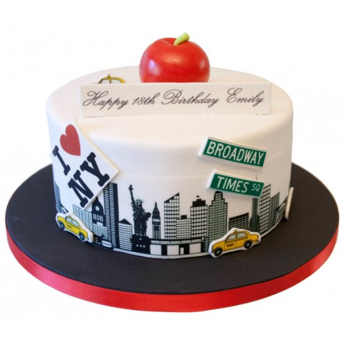 Surprising Big Apple Birthday Cake Funny Birthday Cards Online Fluifree Goldxyz