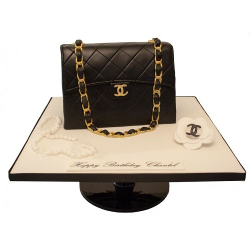 chanel black handbag birthday cake 022f404b3ae08