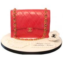 Chanel Red Handbag Cake