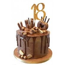 Chocolate Drip 18th Birthday Cake