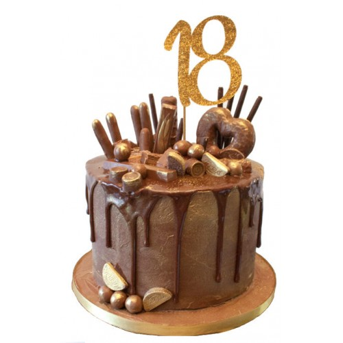 Super Chocolate Drip 18Th Birthday Cake Funny Birthday Cards Online Alyptdamsfinfo