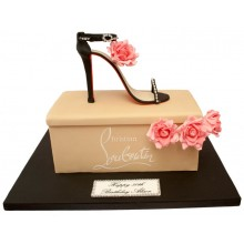 Designer Shoe Box Birthday Cake
