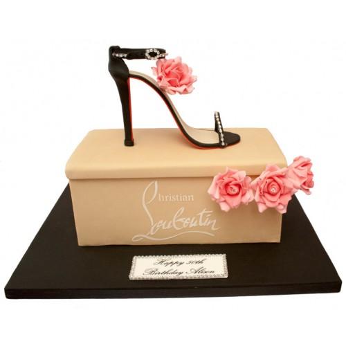 Astonishing Designer Shoe Box Birthday Cake Funny Birthday Cards Online Necthendildamsfinfo