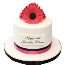 Gerbera 18th Birthday Cake