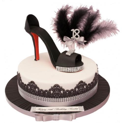Enjoyable Glamour Shoe Birthday Cake Funny Birthday Cards Online Necthendildamsfinfo