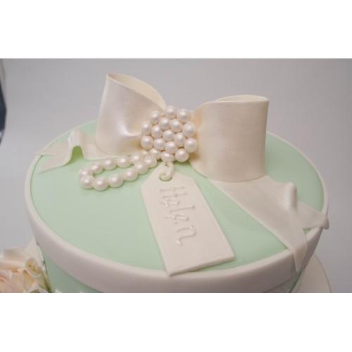 Amazing Green Box Bow Birthday Cake Personalised Birthday Cards Epsylily Jamesorg