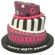Harlequin Topsy Turvy Birthday Cake