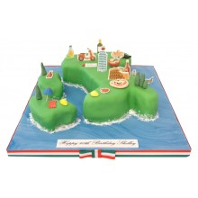 Italy Birthday Cake