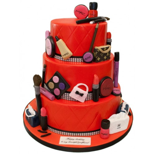 Mac Makeup 3tier Birthday Cake