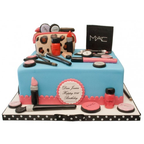 Mac Square Birthday Cake