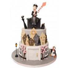 Mary Poppins Birthday Cake