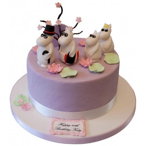 Moomin Family Birthday Cake
