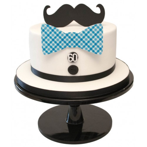 Magnificent Moustache Birthday Cake Personalised Birthday Cards Veneteletsinfo