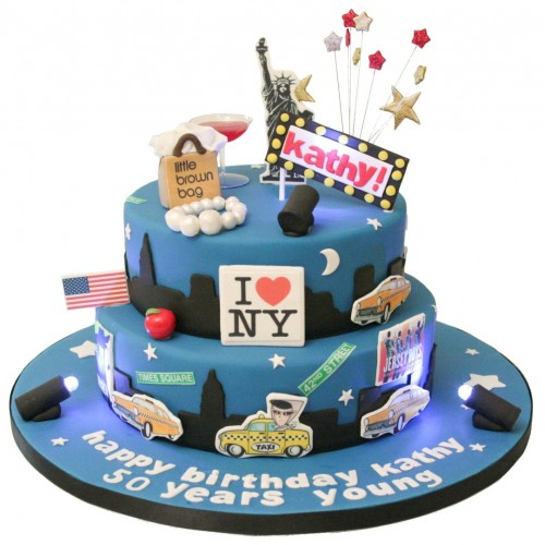 Surprising Nyc Birthday Cake Funny Birthday Cards Online Fluifree Goldxyz