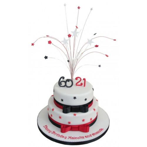 Marvelous Red White And Black Star Birthday Cake Funny Birthday Cards Online Alyptdamsfinfo