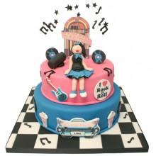 Rock n Roll Birthday Cake