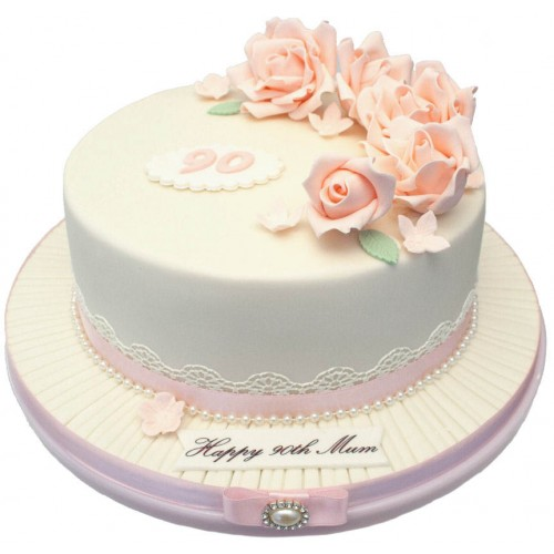 Rose 90th Birthday Cake1 500x500