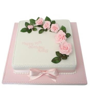 Roses 70th Birthday Cake