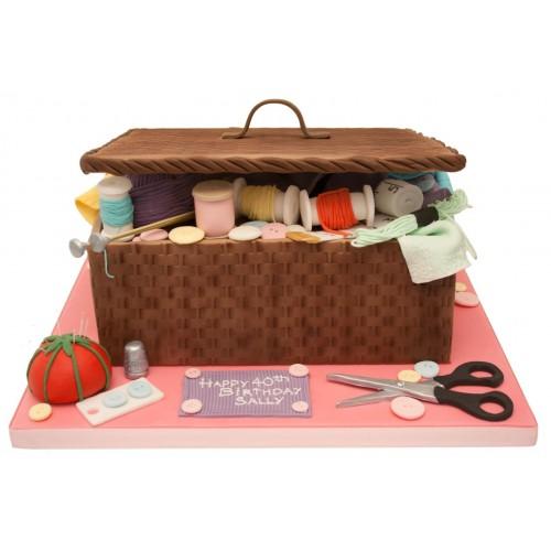 Fantastic Sewing Box Birthday Cake Funny Birthday Cards Online Inifofree Goldxyz